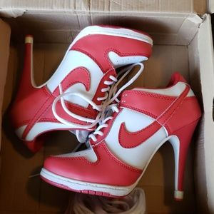 promo code 52271 24c99 Sneaker heels. Sneaker heels.  40.00  55.00. Woman s size 7 Nike high heel  Dunks RARE